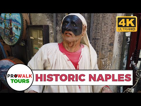 Naples Italy Historic Walking Tour [4K UHD 60fps]