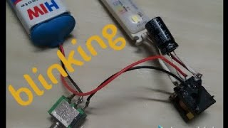 how to make simple blinking light at home rs 10