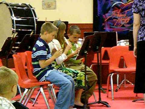 The Stidham Public School 3rd & 4th grade Band