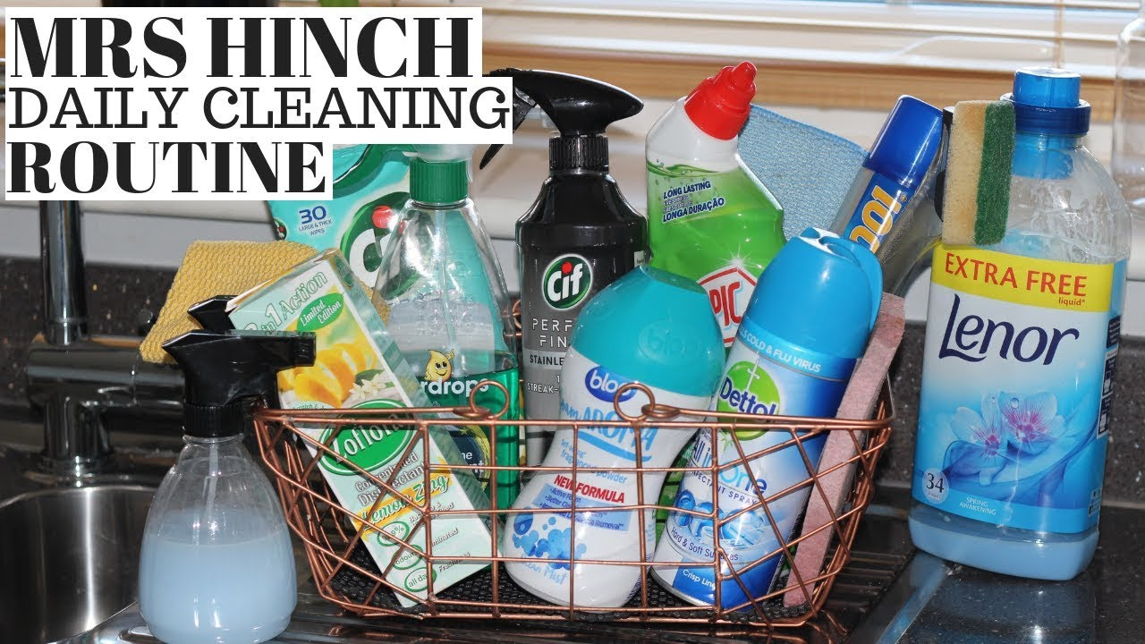 MRS HINCH DAILY CLEANING ROUTINE