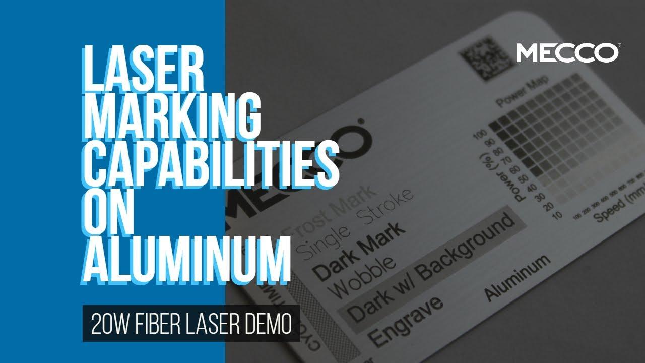 Fiber Laser Marking on Aluminum: A Demonstration