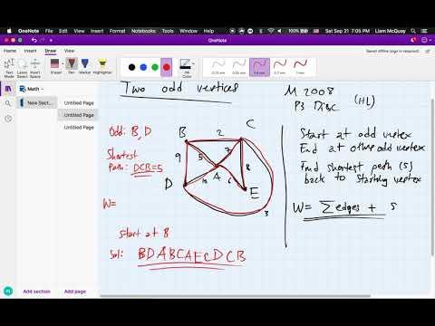 IB Mathematics Applications (HL) – Chinese Postman Problem thumbnail