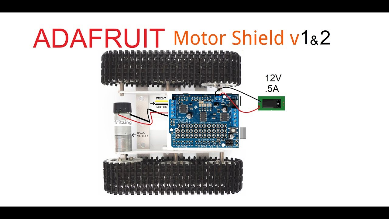 Adafruit Motor Shield v1 & v2 + DoRobot - Jungletronics - Medium