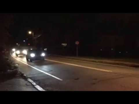 Hillary and Bill Clinton Arriving Home to Chappaqua, NY