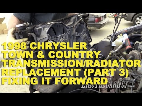 1998 chrysler town country transmission radiator replacement part 3 fixing it forward youtube. Black Bedroom Furniture Sets. Home Design Ideas