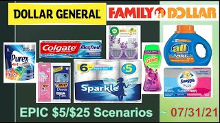 DOLLAR GENERAL & FAMILY DOLLAR EPIC $5/$25 DEALS! ~ 7/31/21