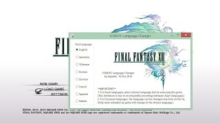 Final Fantasy XIII PC Language Changer