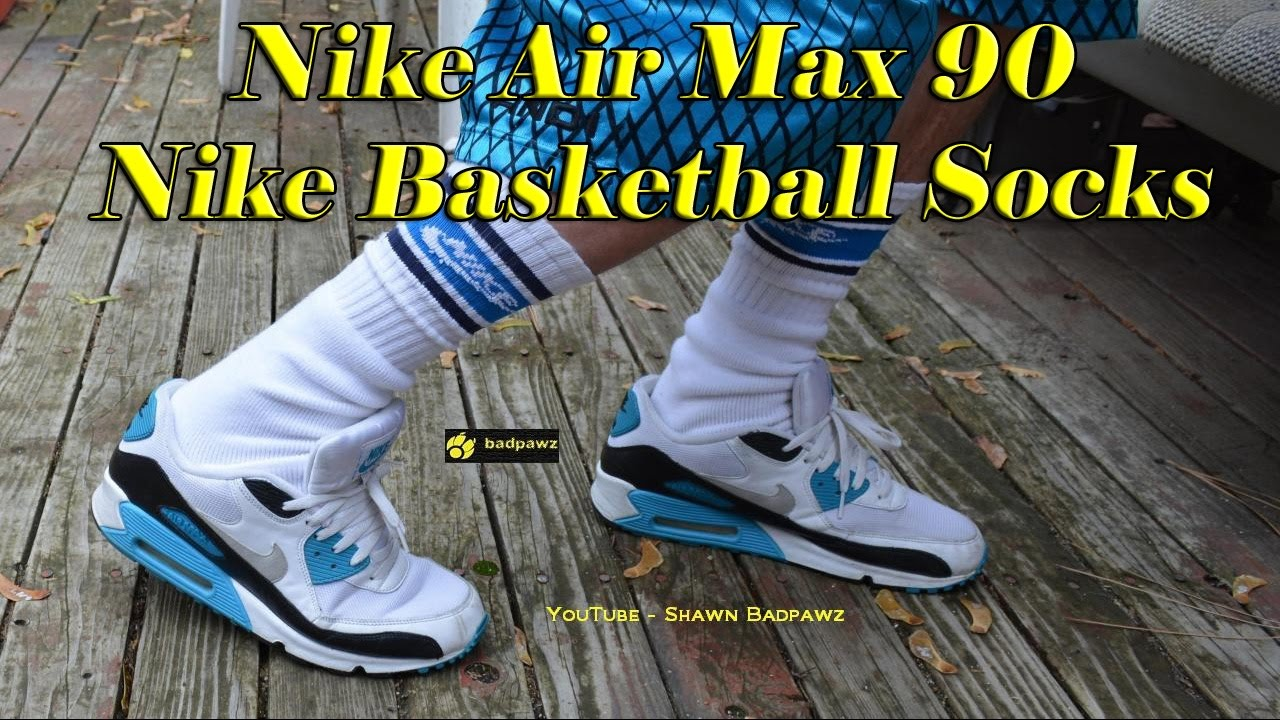 750624bc49183 ... Feet - YouTube Nike Air Max 90 Nike Air Max 90   Nike Basketball socks  ...