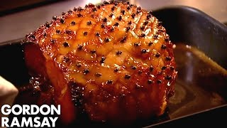 CHRISTMAS RECIPE: Honey Glazed Ham With Pear & Saffron Chutney