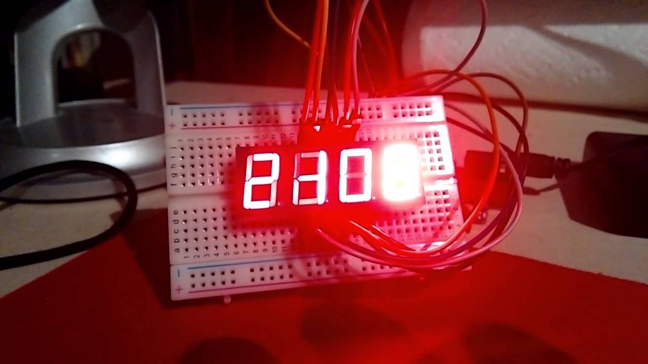 Working 4 Digit 7 Segment Display Arduino Clock No Rtc Youtube For Beginners Digital With 7segments Led And