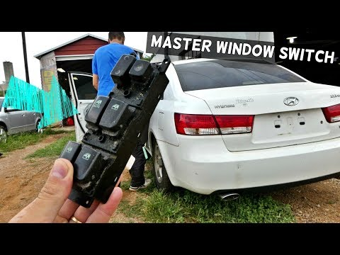 HOW TO REMOVE AND REPLACE MASTER WINDOW SWITCH ON HYUNDAI SONATA