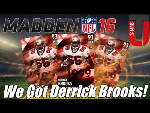 We Got 93 Derrick Brooks! | MUT 16 Legend Challenge | Madden Ultimate Team 16
