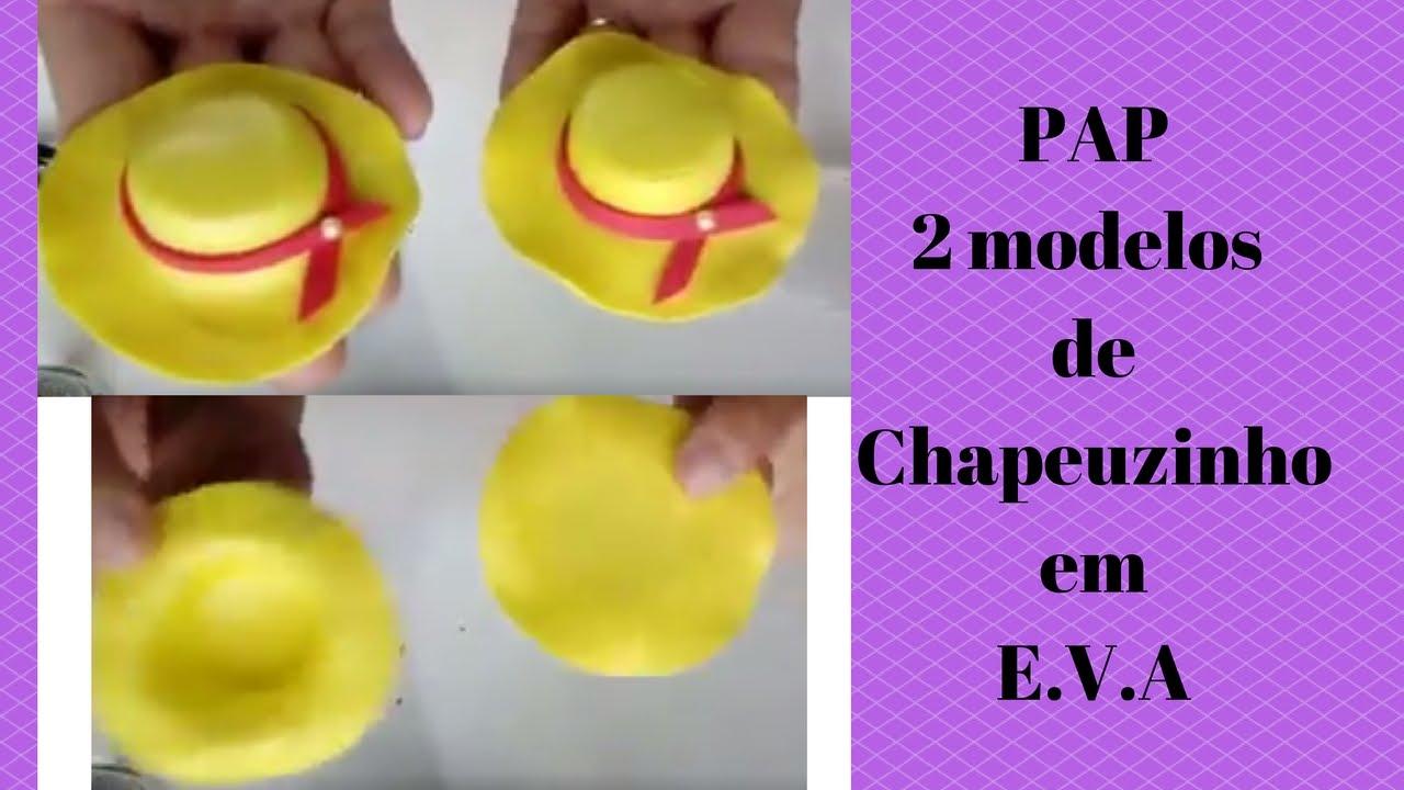 Dois Modelos De Chapeu Em Eva Youtube