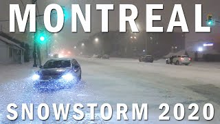 Montreal Snowstorm 2020 | First Major Snow Storm in Canada