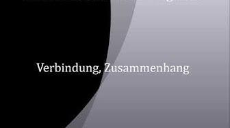 Verbindung, Zusammenhang   deutsch - englisch