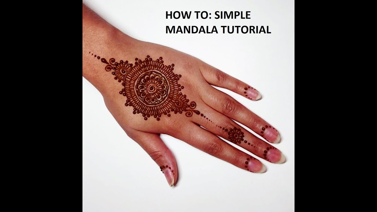 Mehndi Designs Tutorial : Henna art simple tutorial makedes
