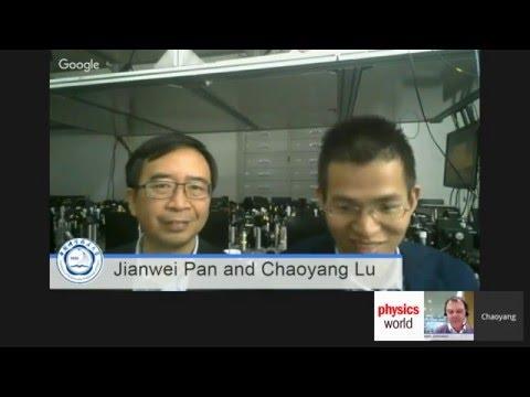 Physics World Breakthrough of the Year 2015 - Meet the winners Jian-Wei Pan and Chaoyang Lu