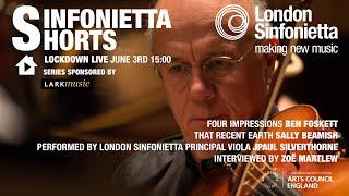 Lockdown Live - Sinfonietta Shorts 3rd June 2020