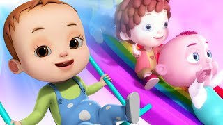 Playground Song | Rainbow Slide Song | Nursery Rhymes & Kids Songs | Learn Colours