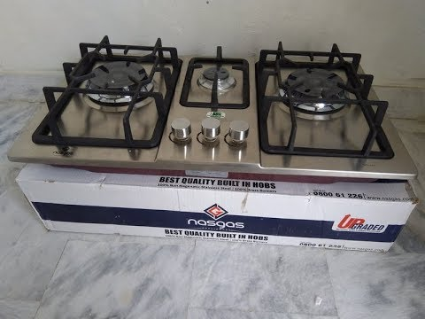 Nasgas Built-In Stainless Steel Gas Hob Unboxing