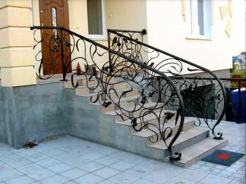 Кованые перила для крыльца частного дома  наружной лестницы частного дома ковка растительный стиль