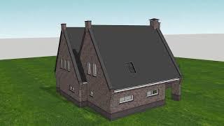 Animatie nieuwbouw woonhuis te Roswinkel