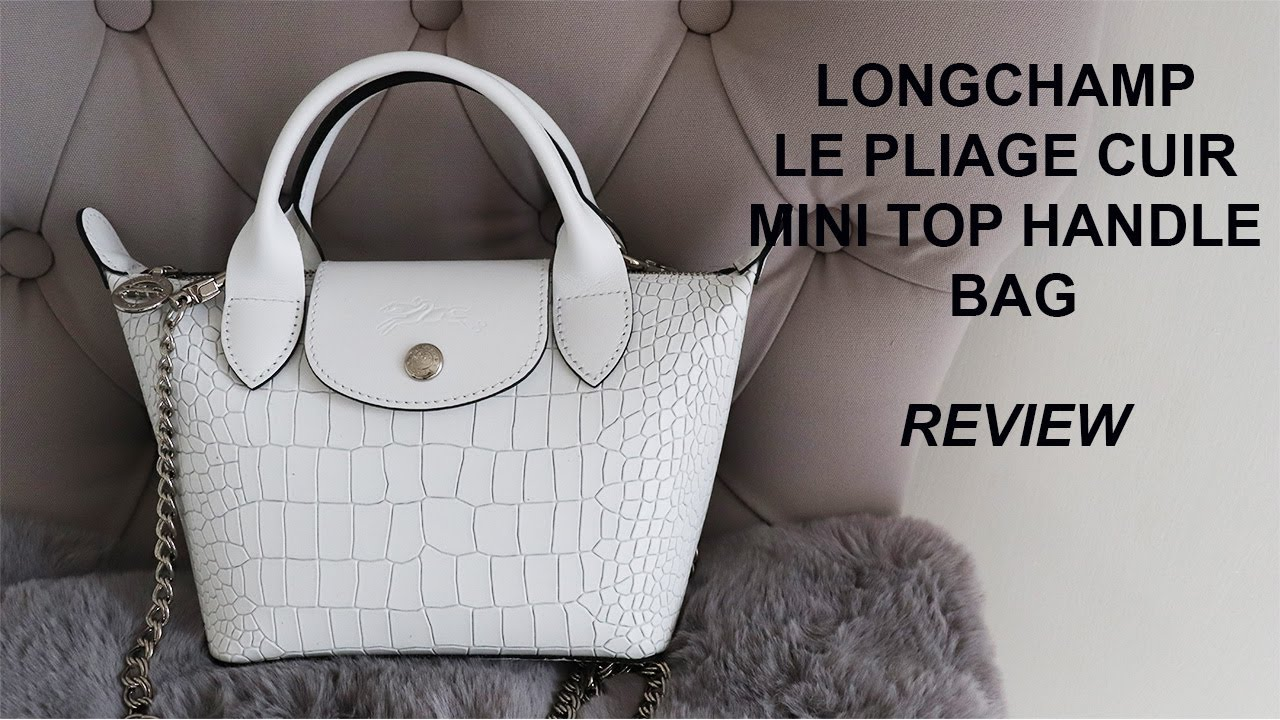 LONGCHAMP LE PLIAGE CUIR MINI TOP HANDLE BAG REVIEW