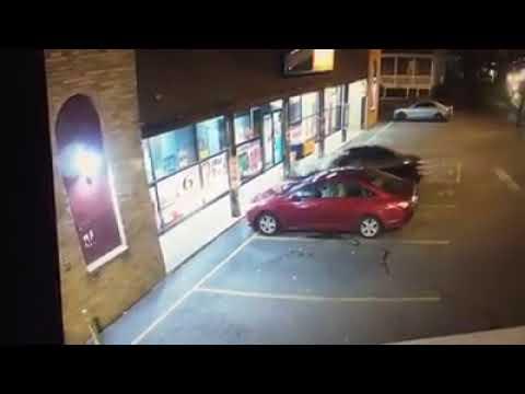 Car smashes through Massachusetts convenience store