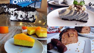 Delicious and Tasty Best Easy No-Bake Cheesecake Recipes Oreo, Kinder Bueno, Orange Cheesecake