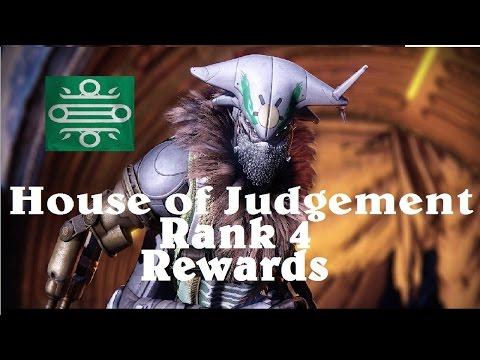 Destiny - House of Judgment - Rank 4 Rewards
