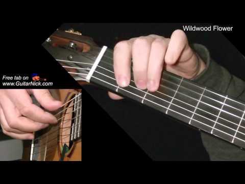 WILDWOOD FLOWER: Easy Guitar Lesson + TAB by GuitarNick