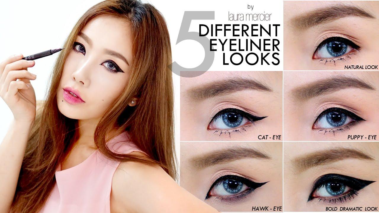 How To : 5 Different Eyeliner Looks เขียนขอบตา 5 สไตล์ตั้งแต่ลุคเบสิคยันดรามาติก!