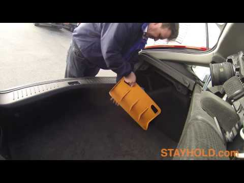 The Stayhold: Simple Industrial Design to Secure Items in Your Car Trunk