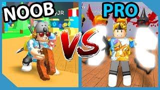 Noob VS Pro in Roblox Magnet Simulator