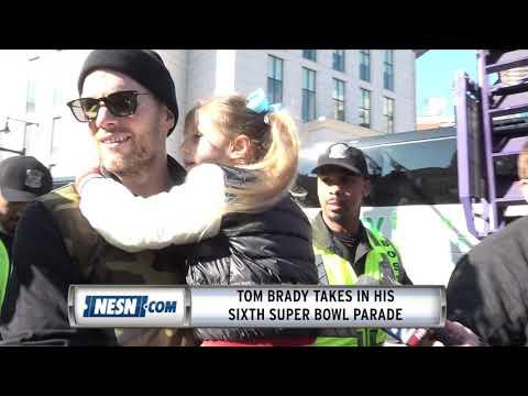 Tom Brady Celebrates Super Bowl 53 Parade With His Daughter