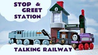 Wooden Thomas The Train Railway Interactive Stop & Greet Station Kids Toy Train Set Thomas The Tank
