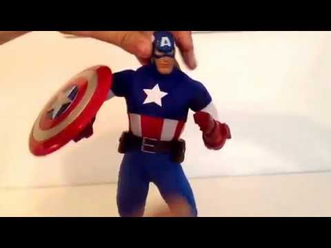 "Marvel ultimate series premium 12"" Captain America action figure review"