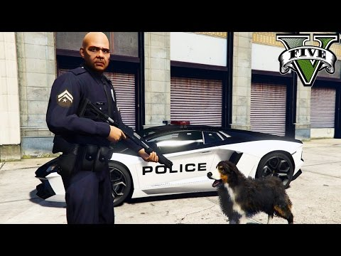 GTA 5 PC Mods - PLAY AS A COP MOD! GTA 5 DOG PARTNER! LSPDFR Mod Gameplay! (GTA 5 Mod Gameplay)