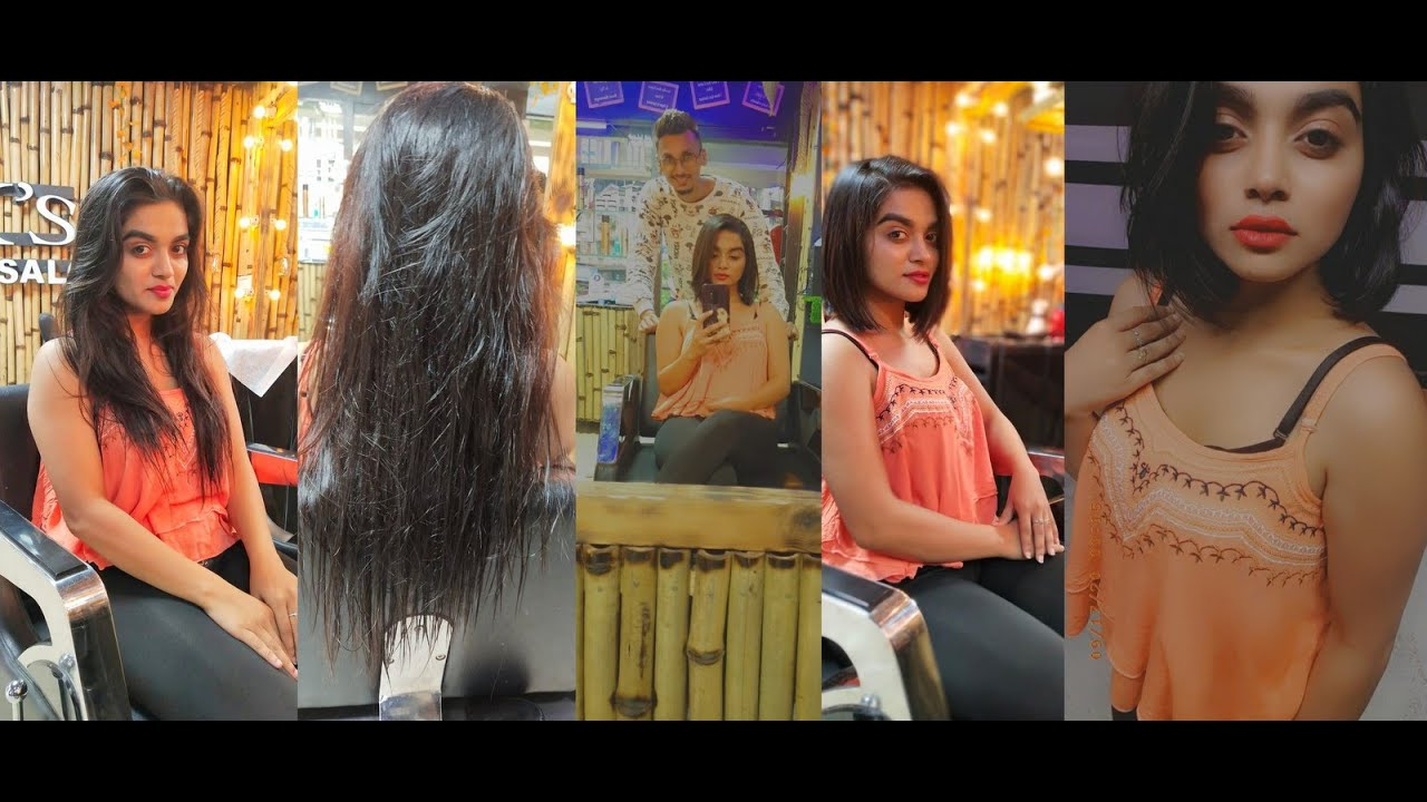 Long to Blunt Haircut At Vks Infinity Salon By Hairstylist Viraj