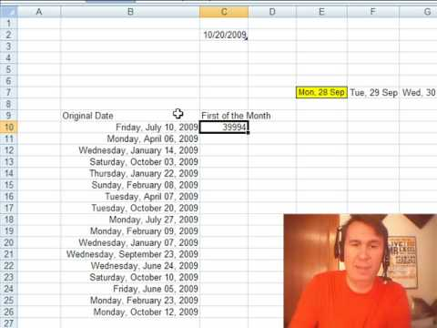 Mr Excel Excelisfun Trick First Monday For Reporting Period