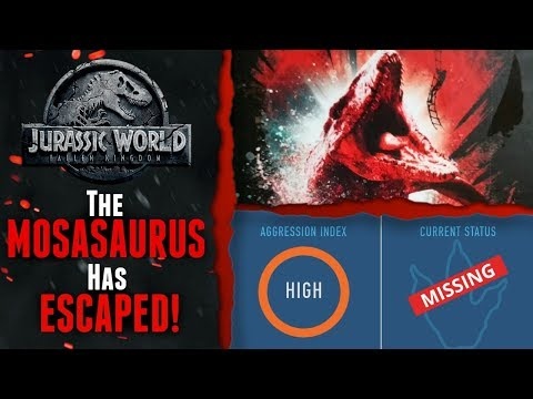 The Mosasaurus Has Escaped! - Jurassic World Fallen Kingdom News - Dinosaur Protection Group Site!