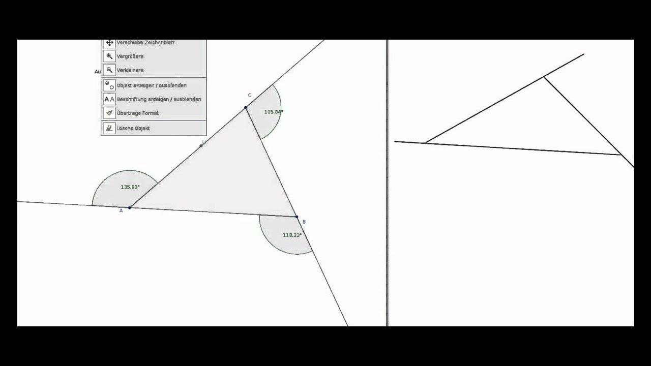Aussenwinkelsumme am Dreieck - YouTube