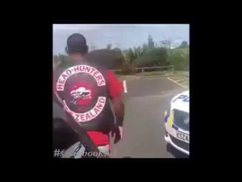 NZ gang member vs 2 Cops