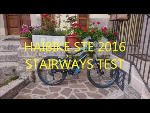 HAIBIKE SDURO ALL MTN RC 2016 CIVITANOVA DEL SANNIO STAIRWAYS TEST