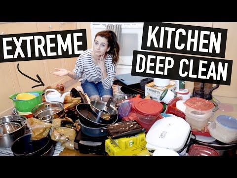 EXTREME KITCHEN DEEP CLEAN + DECLUTTER || CLEAN WITH ME!