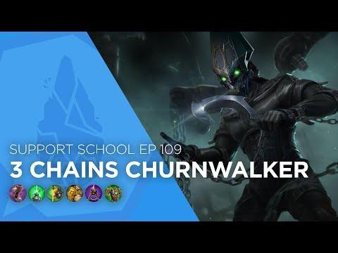 Vainglory - Support School EP 109: 3 Chains Churnwalker (Update 2.11)