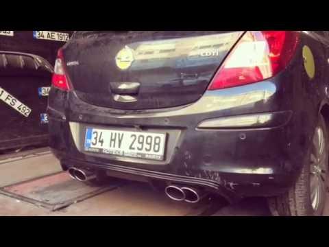Opel Corsa 1.3 Cdti Dizel Egzoz Sesi ve Yazılım