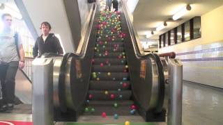 Balls on escalator thumbnail