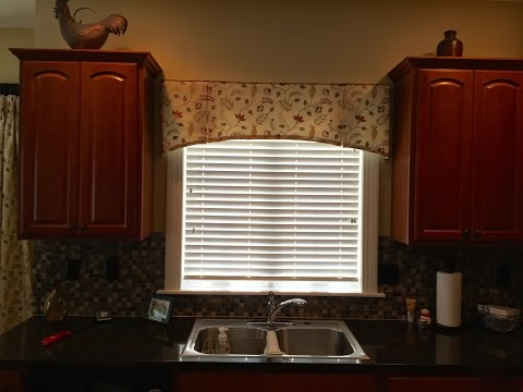 How to make a kick pleated arched valance pattern