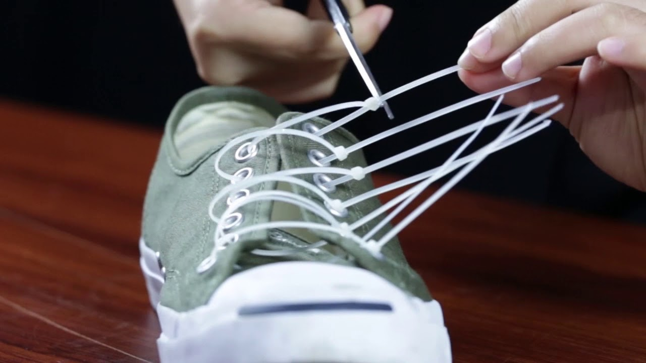 Use Zip Ties to Replace Your Shoelaces